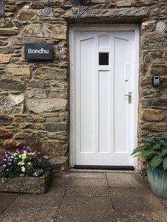 Back door with key safe