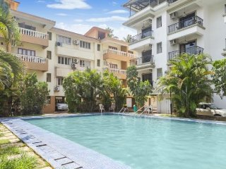2-bedroom apartment with a shared pool, 2.1 km from Baga beach