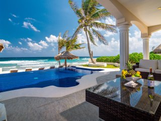 Luxurious beachfront villa