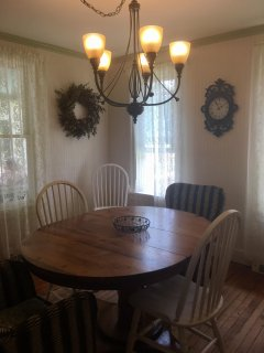 Farmhouse style dining area