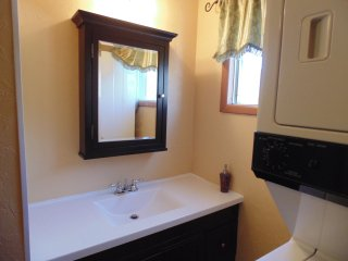 Full Bathroom with sufficient fresh Towels sets & Toiletries