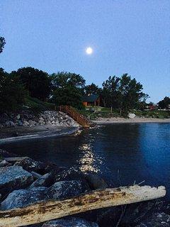 June 10 sunrise moon still up - by Beth