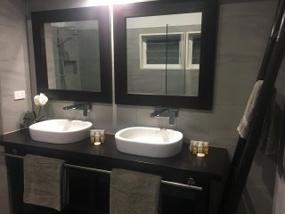 Ensuite Bathroom - his and hers basins