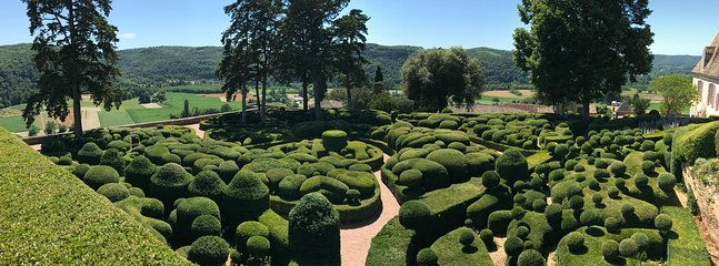 Beautiful Marqueyssac gardens near by