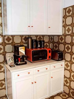 Kitchen - Microwave & Coffee Maker