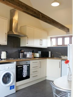 plenty of space to cook a cosy dinner