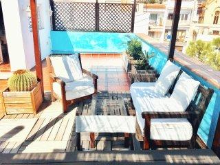 Atico con terraza-mucho sol/silencio en el Centro del pueblo