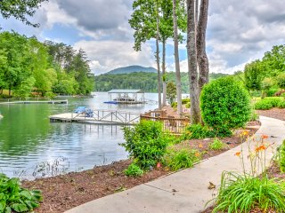 Waterfront Young Harris Home w/ Dock & Hot Tub!
