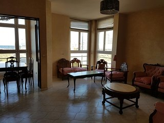 Apartment with 2 rooms in Tanger, with wonderful sea view - 500 m from the beach