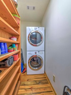 Use the in-unit laundry machines to keep your clothes nice and clean during your stay!