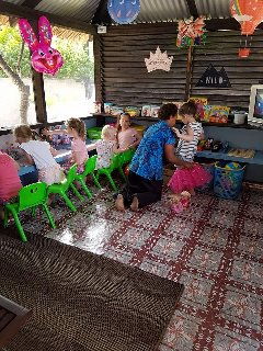 Kids in action in the Kids Club