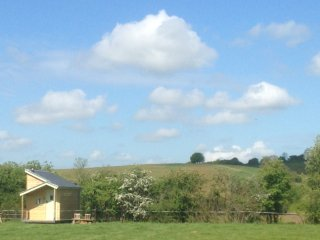 Blueberry farm stay 1, shepherd huts for groups & families for up to 15 people