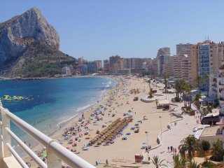 Beachfront apartment with seaviews in Calpe - Apartamentos Esmeralda 28A