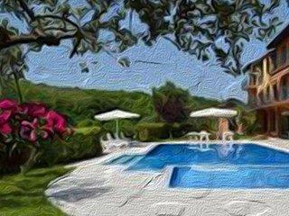 Resort in collina vista mare con piscina. struttura di 10 appartamenti