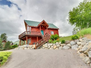 Lakefront A-frame with dock, theater room, & great views of Wild Horse Island!
