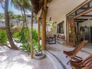 Casa de las Palmas outdoor area. Sand at your doorstep.