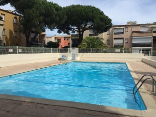 Studio in Le Grau d'Agde, with pool access and enclosed garden