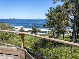 Private Oceanfront 4BR on 10 Acres w/ 2 Fireplaces, 4 Decks & Grill