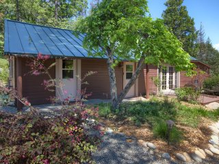 Romantic, Restored 1945, Bass Lake Cottage Amid Flowering Gardens & Fountain