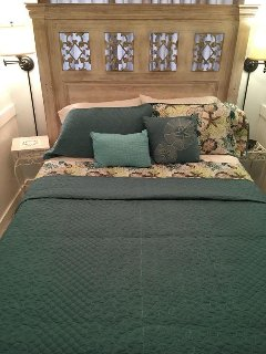 Master bedroom with brand new queen bed and mattress.