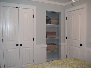 Lots of closet space in the master bedroom.