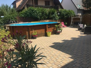 Bright house in biesheim, alsace, with private terrace, garden and pool