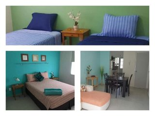 Cozy Apartament Excellent Location! Near beach & Mall /2BR w/AC / parking