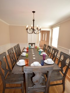 Family dining room - seats 10