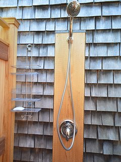 Outdoor shower- fully enclosed.