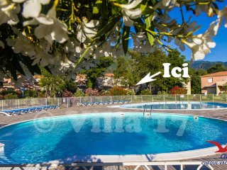 Charmante villa classee climatisee 2 piscines et plages a 500 m