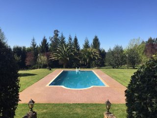 362 Villa with large garden and pool near Santiago