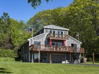 4BR + Bonus Room,3.5BA East Boothbay Home with Stunning Bay Views and Sunsets