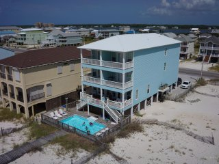 14 Bedroom Gulf Front Beach House w/ Private Pool and Private Boardwalk