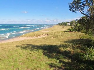 Lake Michigan's Premier 2BR Beachfront Lake Facing Corner & Top Floor Condo