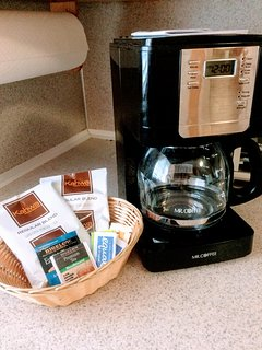 Coffee and snacks to get your vacation started.