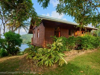 Erasmus Cove Tobago seaview cottage with private beach and waterfall