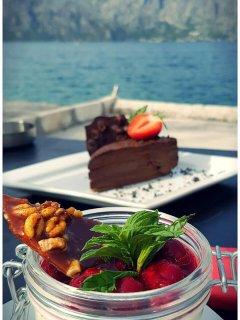 Chocolate Cake at Mademoiselle Restaurant, Prcanj