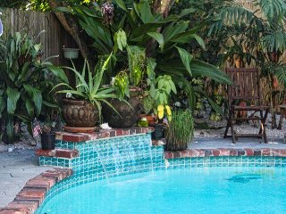Tropical and Eclectic Vacation Home With Pool Sleeps 12