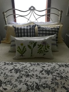 Bedding changes with the seasons for that special touch.
