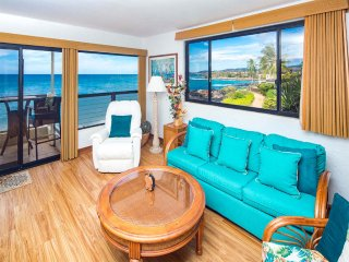 Luxe Pacific View w/Wood Floors+Modern Kitchen, Lanai, Laundry, WiFi–Poipu Shores 207A
