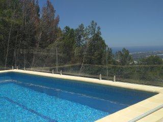 Villa en Oliva La Font en la cima con vistas impresionantes montana mar  piscina