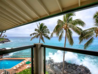 Homey Condo w/Super View! WiFi, Washer/Dryer, Full Kitchen, Lanai–Poipu Shores
