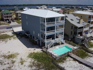 7 Bedroom Gulf Front Beach House With Pool and Private Boardwalk