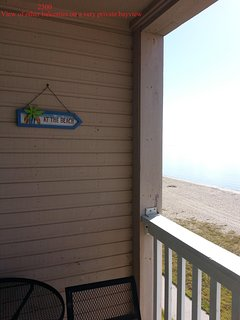 View from a bayfront private balcony.