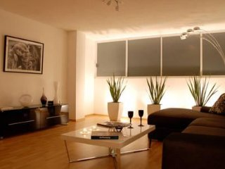 Relax in the Living Room with light dimmers so you can enjoy a romantic evening or a good book.