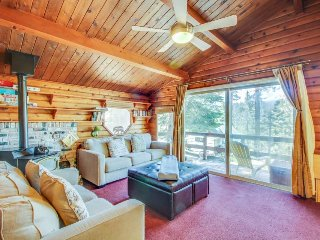 Cozy, cabin-style home w/ balcony & partial lake views - close to town. Dogs OK!