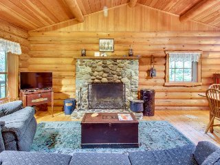 Dog-friendly cabin w/ private hot tub & duck pond for a relaxing escape