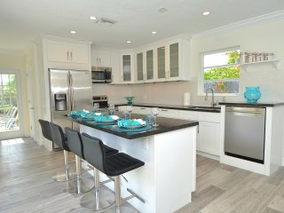 Breathtaking Open Kitchen Offers Counter + Table Dining + HD TV + Pool Access...