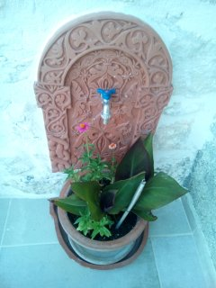Decorative garden tap.