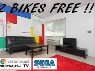 STUDIO close beach! and SoBe!+ 2 BIKES ! 2 Bikes free !! parking free !